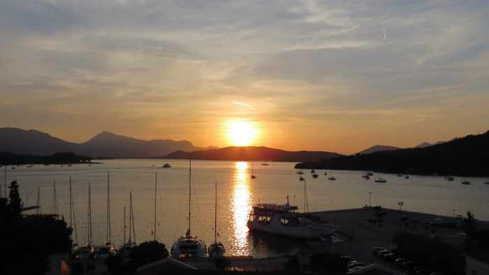 Greece,Greek island, Saronic island, Poros island, Poros, sunset, Saronic Gulf,