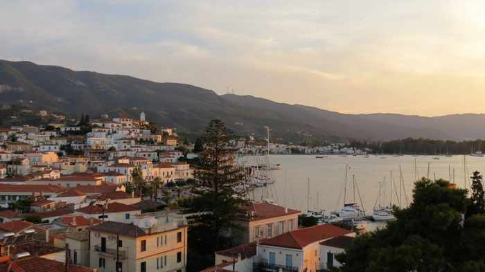 Greece, Greek islands, Saronic islands, Poros, Poros island, Poros Town, Dimitra Hotel