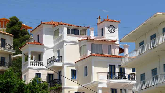 Greece, Greek island, Saronic island, Poros island, Poros, Poros Greece, buildings,
