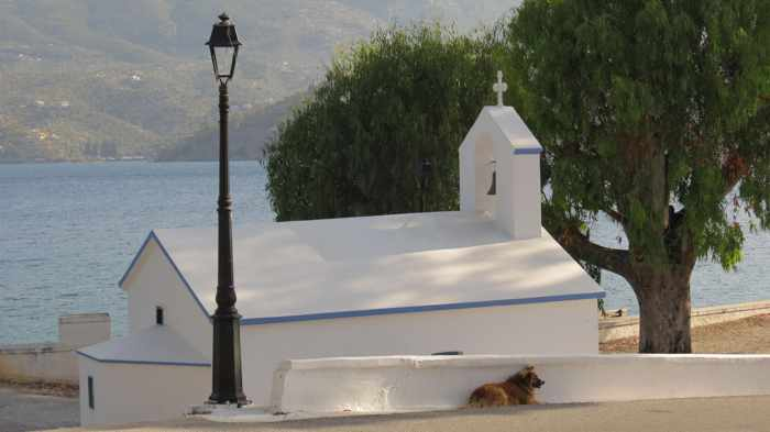 Greece, Greek island, Saronic island, Poros, Poros Greece, Poros island, church, Orthodox church, Panagitsa Church Poros, Panagitsa Church,