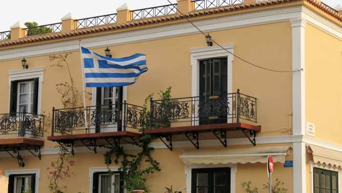Greece, Greek island, Saronic island, Poros, Poros Greece, Poros island, building,