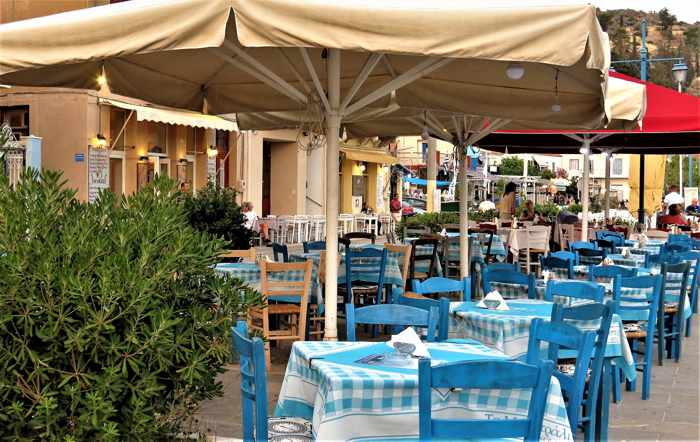 Greece, Greek island, Saronic island, Poros, Poros Greece, Poros island,, taverna, Greek taverna, restaurant,