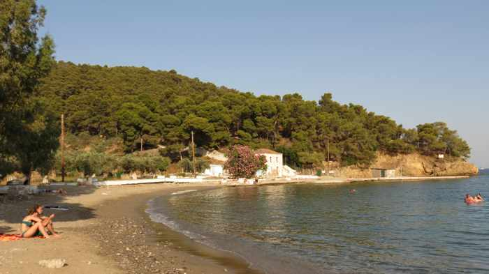 Greece, Greek island, Saronic island, Poros, Poros Greece, Poros island, beach, Monastiri beach Poros, Poros beach, shore, seaside, coast,