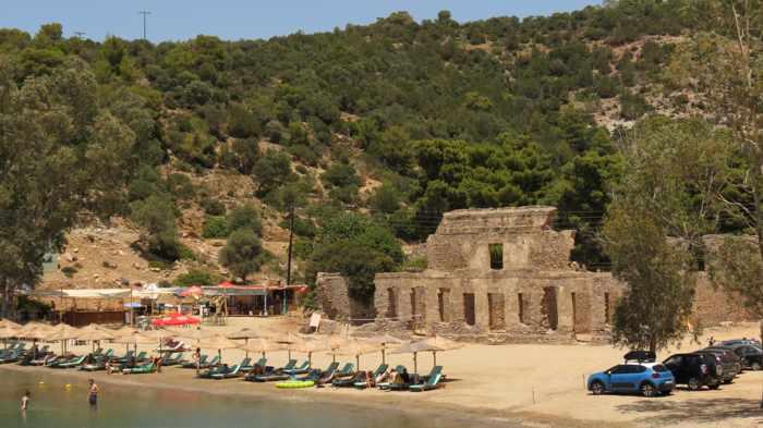 Greece, Greek island, Saronic island, Poros, Poros Greece, Poros island, Russian Bay, Russian Beach, Russian Bay Poros, ruins, Russian dockyard ruins Poros,