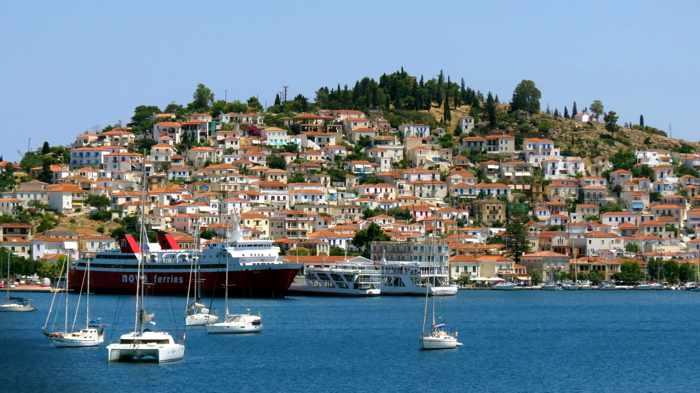 Greece, Greek island, Saronic island, Poros, Poros Greece, Poros island, Poros Town