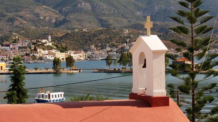 Greece, Greek island, Saronic island, Poros, Poros Greece, Poros island, church, Orthodox church, Agia Triada Church, Agia Triada Church Poros,