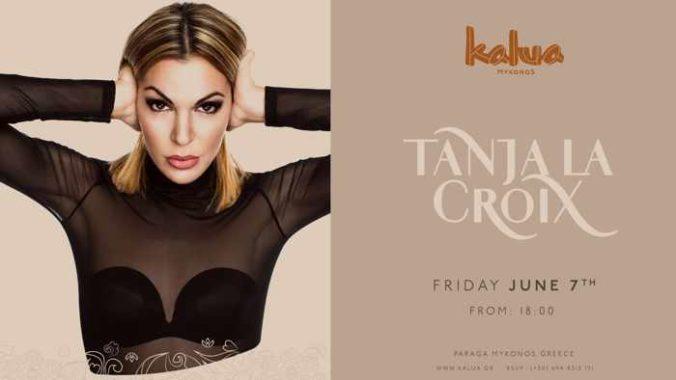 Promotional photo for DJ Tanja La Croix appearance at Kalua Bar Mykonos