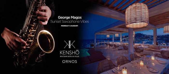 Kensho Ornos prsents Sunset Saxophone Vibes on Monday August 5