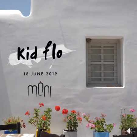 Promotional image for Kid flo appearanace at Moni club Mykonos June 18