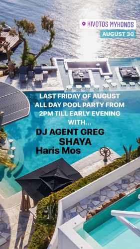Kivotos Mykonos All Day Pool Party on Friday August 30