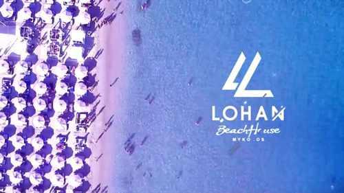 Greece, Greek islands, Cyclades, Mikonos, Mykonos, beach club, Mykonos beach club, Lohan Beach House Mykonos, Lohan club, party bar, beach bar, restaurant, Kalo Livadi beach Mykonos,