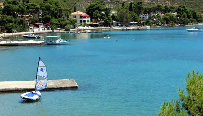Greece, Greek island, Saronic island, Poros, Poros Greece, Poros island,, bay, coast, sea, Megalo Neorio, Megalo Neorio Bay Poros,