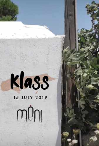 Promotional ad for the July 15 party featuring Klass at Moni nightclub on Mykonos