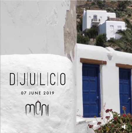 Promotional ad for DJULCO show at Moni nightclub Mykonos