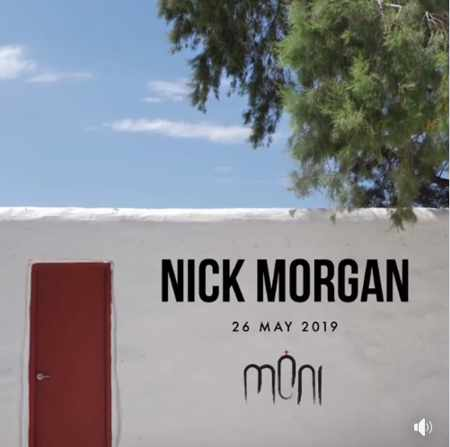 Promo ad for Nick Morgan show at Moni Club Mykonos