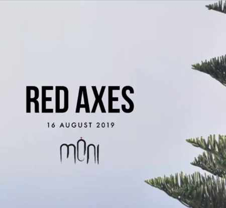 Promotional ad for DJ Red Axes appearance at Moni nightclub on Mykonos
