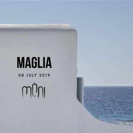 Promotional image for DJ Maglia show at Moni club on Mykonos