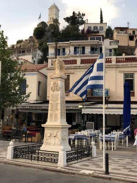 Greece, Greek island, Saronic island, Poros, Poros Greece, Poros island, monument, Monument to Fallen Heroes,