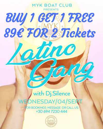Myk Boat Club Latino Gang boat party September 4 2019