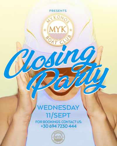 Mykonos Boat Club season closing boat party September 11