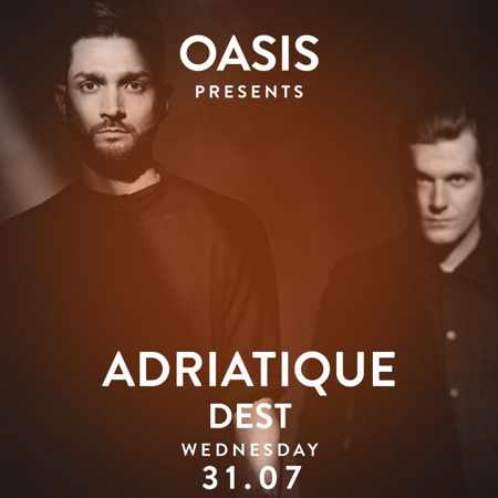 Oasis presents Adriatique and Dest at Alemagou beach club Mykonos