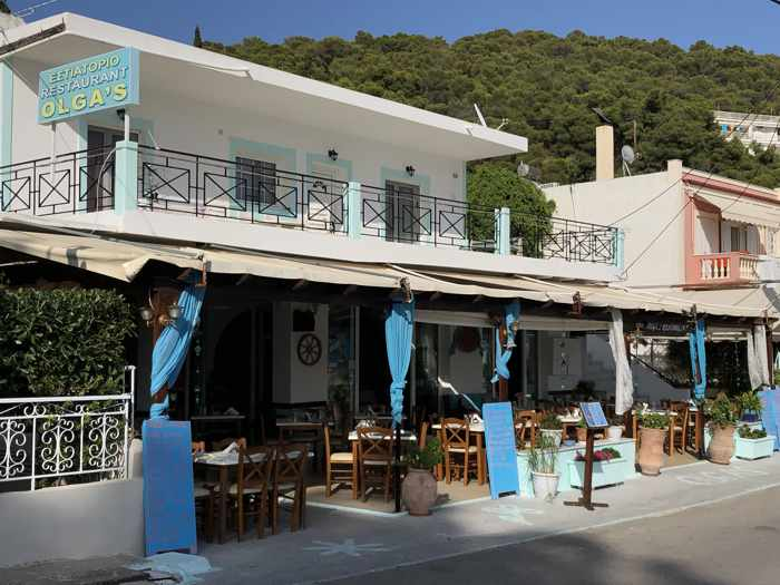 Greece, Greek island, Saronic island, Poros, Poros Greece, Poros island, restaurant, taverna, Greek Taverna, Olgas restaurant Poros, building,