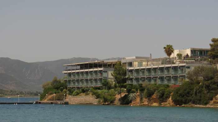 Greece, Greek island, Saronic island, Poros, Poros Greece, Poros island, hotel, Poros Image Hotel, Poros Image, building, architecture, coast,