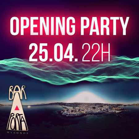 Porta Bar Mykonos 2019 opening announcement