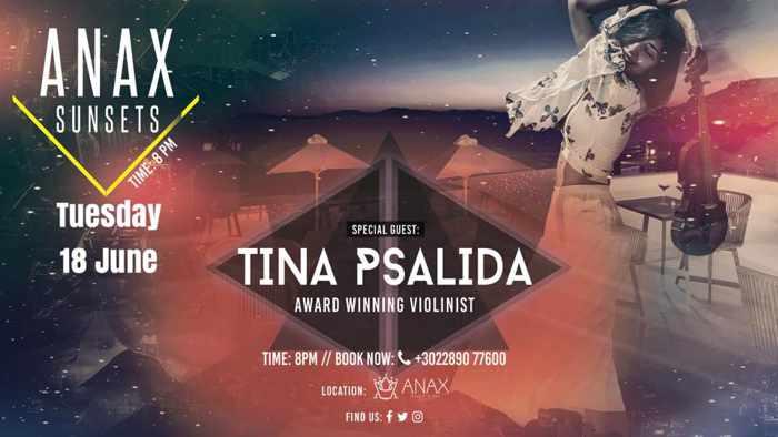 Promo image for Anax Resort & Spa Mykonos Anax Sunset event with Tina Psalida