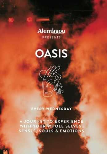 Promotional image for Alemagou Mykonos Oasis events during summer 2019