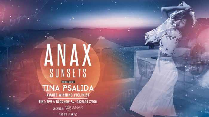 Promotional image for Anax Sunsets show at Anax Resort & Spa Mykonos