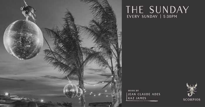 Promotional image for The Sunday Ritual at Scorpios club Mykonos