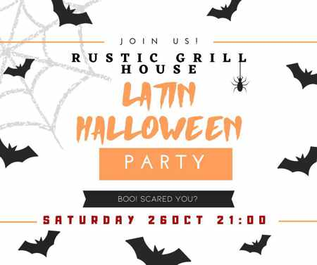Rustic Grill Mykonos Latin Halloween Party on October 26