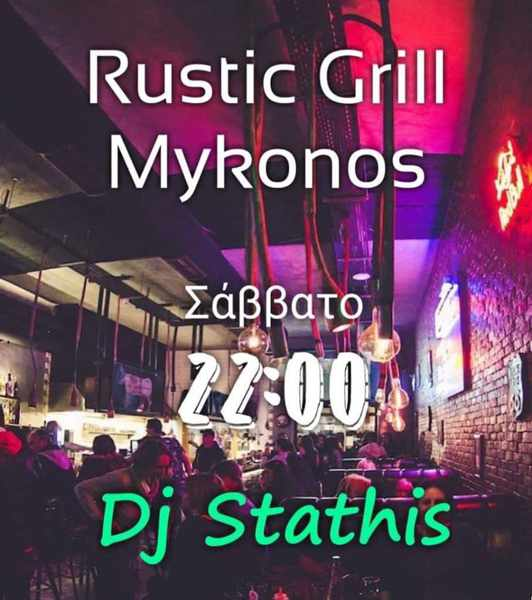Rustic Grill Mykonos presents DJ Stathis on Saturday December 21