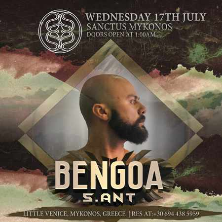 Sanctus Mykonos after hours nightclub party with DJ Bengoa on Wednesday July 17