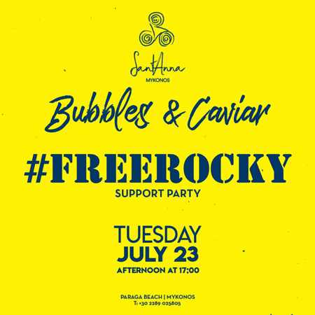 SantAnna Mykonos FreeRocky support party on July 23