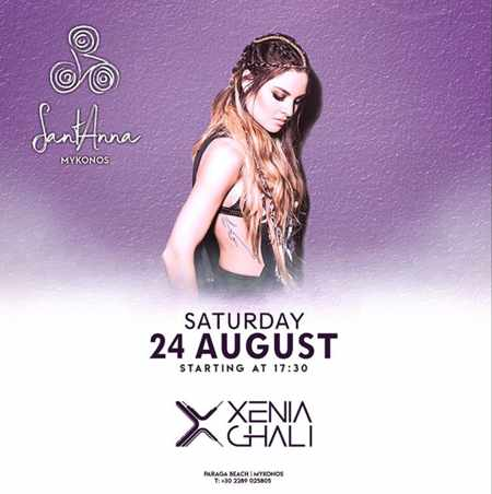 SantAnna Mykonos presents DJ Xenia Ghali on Saturday August 24