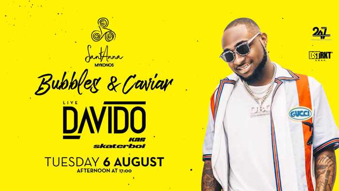 SantAnna Mykonos presents Davido on Tuesday August 6