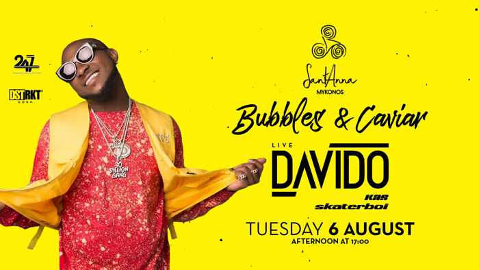 SantAnna Mykonos presents Davido on Tuesday August 6