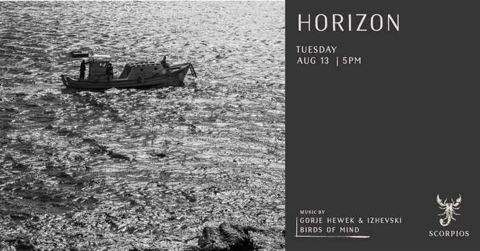 Scorpios Mykonos Horizon eventon Tuesday August 13