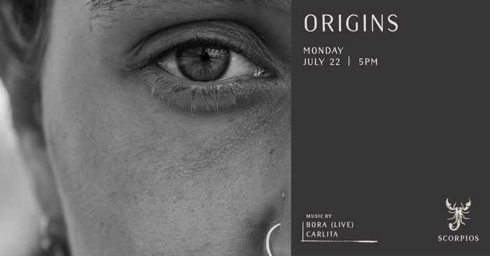 Scorpios Mykonos July 22 Origins event with Bora and Carlita
