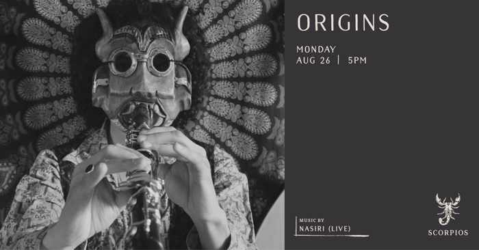 Scorpios Mykonos Origins event with Nasiri on Monday August 26