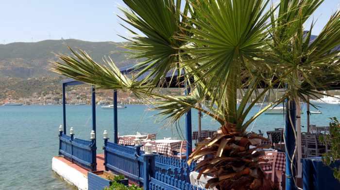 Greece, Greek island, Saronic island, Poros, Poros Greece, Poros island, taverna, Greek taverna, Seretis Taverna, restaurant, coast,