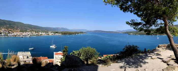 Greece, Greek island, Saronic island, Poros, Poros Greece, Poros island, sea, coast, mountains, Saronic Gulf,
