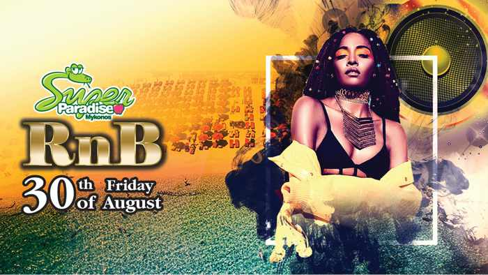 Super Paradise beach club Mykonos RnB party Friday August 30