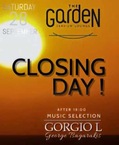 The Garden of Mykonos closing day announcement