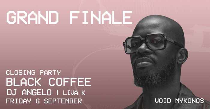 Void club Mykonos 2019 closing party with Black Coffee