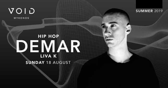 Void club Mykonos hip hop night with DJs Demar and Liva K on Sunday August 18