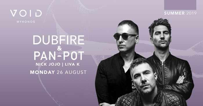 Void club Mykonos presents Dubfire & Pan-Pot on Monday August 26