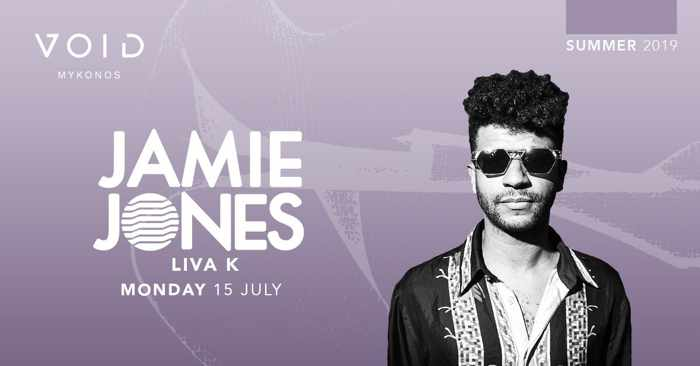 Ad for Jamie Jones appearance at Void club Mykonos July 15